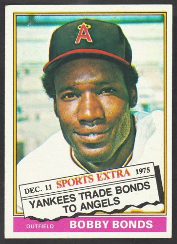 California Angels Bobby Bonds 1976 Topps Traded Series Baseball Card 380T ex+