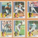 1984 Topps Los Angeles Dodgers Team Lot 21 Fernando Valenzuela Dusty Baker Mike Scioscia Bob Welch