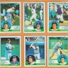 1983 Topps Los Angeles Dodgers Team Lot Steve Garvey Fernando Valenzuela Ron Cey Mike Scioscia