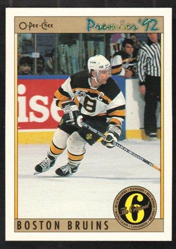 Boston Bruins Ray Bourque 1991 O Pee Chee Premiere OPC Original 6 192 nr mt