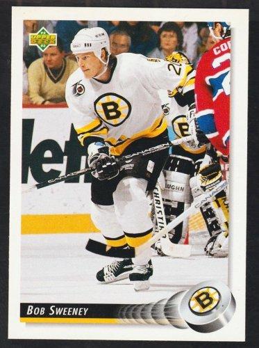 Boston Bruins Bob Sweeney 1992 Upper Deck Hockey Card 47 nr mt