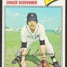 Detroit Tigers Chuck Scrivener 1977 Topps Baseball Card 173 vg+