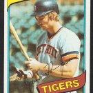 Detroit Tigers Jason Thompson 1980 Topps Baseball Card 150 vg/ex
