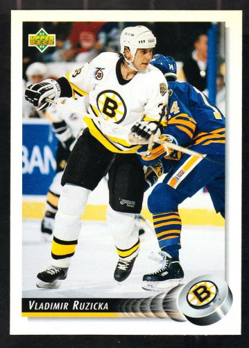Boston Bruins Vladimir Ruzicka 1992 Upper Deck Hockey Card 258