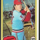 St Louis Cardinals Ted Simmons 1981 Topps Baseball Card 705 nr mt