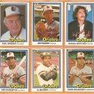 1981-1984 Donruss Baltimore Orioles Team Lot Jim Palmer Earl Weaver Al Bumbry