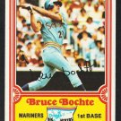 Seattle Mariners Bruce Bochte 1981 Drakes Big Hitters Baseball Card 25 nr mt
