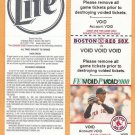 2000 Boston Red Sox Voided Full Ticket With Pedro Martinez Photo
