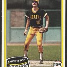 Pittsburgh Pirates Tim Foli 1981 Topps Baseball Card 501 nr mt