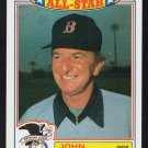 Boston Red Sox John McNamara 1987 Topps Glossy All Star Insert Baseball Card 1