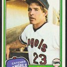 California Angels Tom Donohue 1981 Topps Baseball Card 621 em/nm