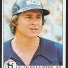 Chicago White Sox Alan Bannister 1979 Topps Baseball Card 134 ex/em