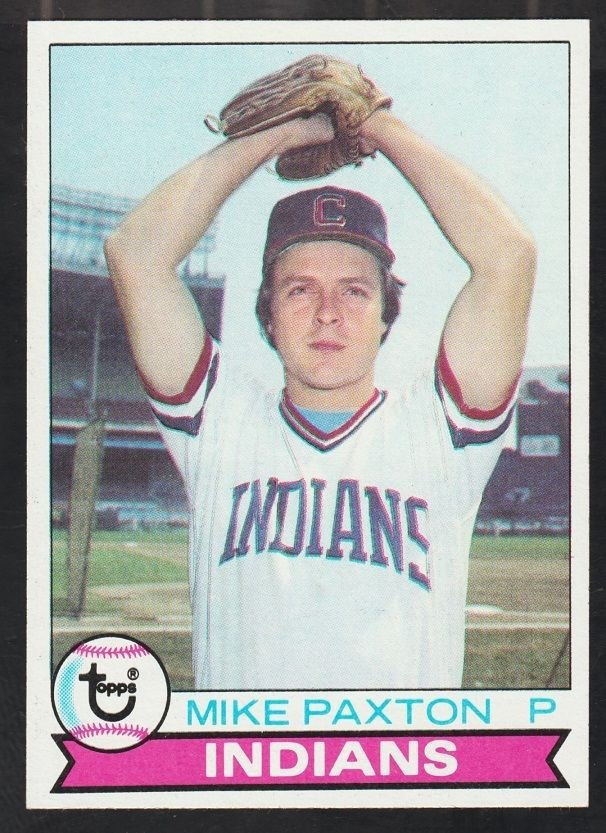 Cleveland Indians Mike Paxton 1979 Topps Baseball Card 122 nr mt