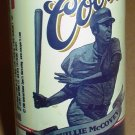San Francisco Giants Willie McCovey Coors Beer Big Bat Collector Can Bottom Opened