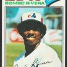 Montreal Expos Bombo Rivera 1977 Topps Baseball Card 178 em+
