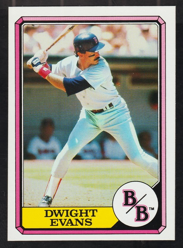 Boston Red Sox Dwight Evans 1987 Boardwalk and Baseball Card 7 nr mt