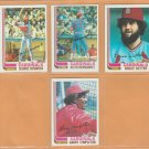 1982 Topps St Louis Cardinals Team Lot 18 Bruce Sutter Keith Hernandez George Hendrick Jim Kaat