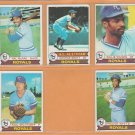 1979 Topps Kansas City Royals Team Lot 19 George Brett Willie Wilson RC Frank White Hal McRae