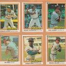 1981-1984 Donruss Cleveland Indians Team Lot 30 Andre Thornton Rick Manning Duane Kuiper