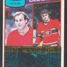 Montreal Canadiens Team Leaders Guy LaFleur 1980 Topps Hockey Card 216 vg/ex