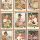 1981 1982 Donruss Detroit Tigers Team Lot 11 diff Jack Morris Lance Parrish Steve Kemp Al Cowans