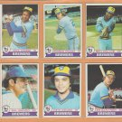 1979 Topps Milwaukee Brewers Team Lot 20 Gorman Thomas Cecil Cooper Jim Gantner Ben Oglivie
