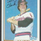 California Angels Bob Clark 1982 Topps Baseball Card 74 nr mt