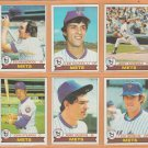 1979 Topps New York Mets Team Lot 17 Jerry Koosman Ed Kranepool Bobby Valentine