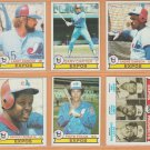 1979 Topps Montreal Expos Team Lot 18 Andre Dawson Gary Carter Larry Parrish Warren Cromartie