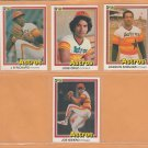 1981-1984 Donruss Houston Astros Team Lot 32 Jose Cruz Cesar Cedeno JR Richard Joaquin Andujar