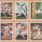 1993 Topps Gold Insert Oakland Athletics Team Lot 25 Rickey Henderson Dennis Eckersley Harold Baines