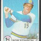 Seattle Mariners Bob Stinson 1979 Topps Baseball Card 252 vg