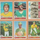 1979 Topps Oakland Athletics Team Lot 18 Dwayne Murphy RC Rico Carty Mike Norris Wayne Gross