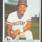 Cleveland Indians Gary Alexander 1979 Topps Baseball Card 332 nr mt