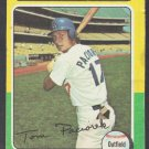 Los Angeles Dodgers Tom Paciorek 1975 Topps Baseball Card 523 vg