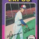 Montreal Expos Dennis Blair 1975 Topps Baseball Card 521 vg/ex