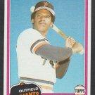 San Francisco Giants Max Venable 1981 Topps Baseball Card 484 nr mt