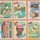 1980 Topps Houston Astros Team Lot 31 Cesar Cedeno Jose Cruz Jeff Leonard RC JR Richard