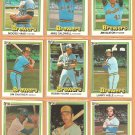 1981-1984 Donruss Milwaukee Brewers Team Lot 22 Robin Yount Ben Oglivie Rollie Fingers Gorman Thomas