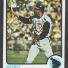 California Angels Sandy Alomar 1973 Topps Baseball Card 123 vg/ex