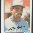 Toronto Blue Jays Willie Upshaw 1982 Topps Baseball Card 196 nr mt