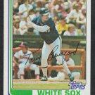 Chicago White Sox Tony Bernazard 1982 Topps Baseball Card 206 nr mt