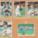 1979 Topps San Francisco Giants Team Lot 14 Willie McCovey Darrell Evans Jim Barr Team Card
