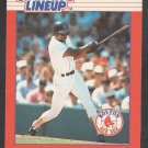 Boston Red Sox Ellis Burks 1988 Kenner Starting Lineup SLU Baseball Card 56 nr mt