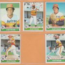 1979 Topps Houston Astros Team Lot 9 Jose Cruz Joaquin Andujar Bob Watson Art Howe