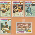 1977 Topps Houston Astros Team Lot 23 Jose Cruz Cesar Cedeno Ken Forsch J.R Richard Joe Sambito