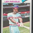 Texas Rangers Len Randle 1977 Topps Baseball Card 196 vg