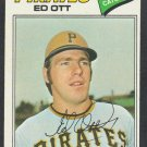 Pittsburgh Pirates Ed Ott 1977 Topps Baseball Card 197 vg/ex