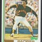 San Diego Padres John Curtis 1982 Topps Baseball Card 219 nr mt