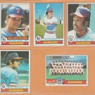 1979 Topps Texas Rangers Team Lot 13 diff Jim Sundberg Al Oliver Mike Hargrove Richie Zisk
